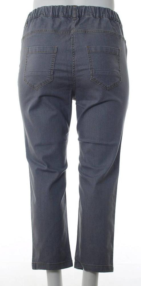 Chalou Damen 78 Jeans Hose in großen Größen Grau
