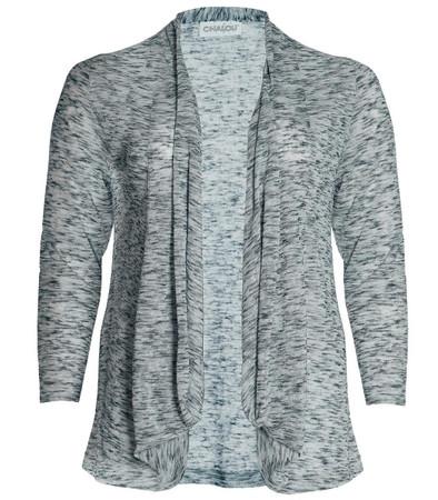 Chalou Shirtjacke leichte Sommerjacke Cardigan Grau meliert