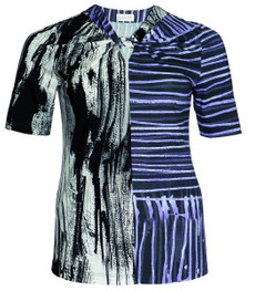 Chalou Damen kurzarm T-Shirt in Flieder Lila 001