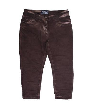 No Secret Damen 7/8 Jeans Hose in großen Größen Braun