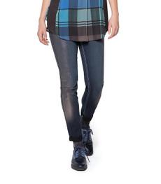 Doris Streich Hose Jeans Stretch in Blau und Schwarz 001