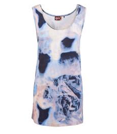 Aprico Top für Damen Hellblau mit Batikmuster aus Viskose 001