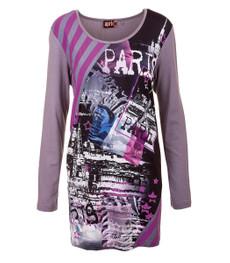 "Aprico Damen Langarm Shirt ""Paris"" Viskose Grau 001"