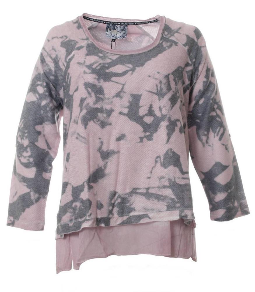 timeless design 6087a fef78 No Secret Oversize Damen Pullover mit Untershirt in Rosa | Mode für Mollige  ❤ Damenmode Online Shop für große Größen