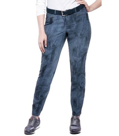 Chalou Lederjeans für Damen aus Leder-Imitat im Jeans-Look, Graublau