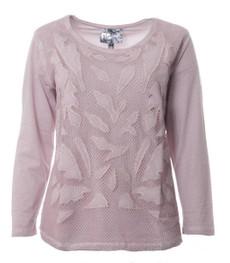 No Secret Damen Langarm Shirt Spitze in großen Größen, Rosa 001