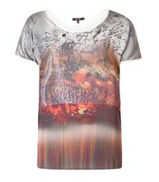 Yest Mode ❤ Damen Shirt Top große Größen Pailletten kurzarm Orange 001