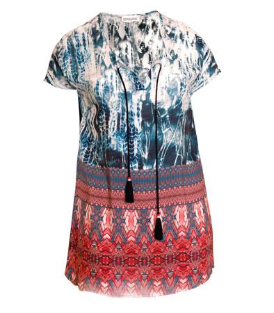 Chalou ❤ Sommer Tunika Damen lang kurzarm große Größen kaufen