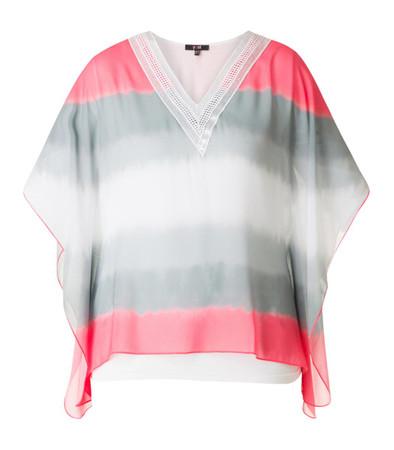 Fledermaus Oberteil Shirt Damen Pailletten V-Ausschnitt