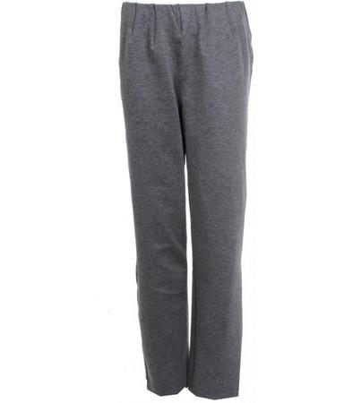 Elegante Stretch Hosen Damen große Größen Hoher Bund in Grau