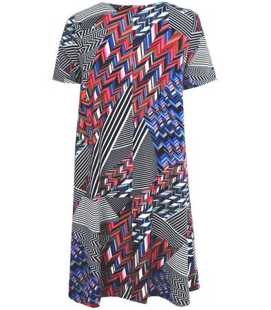 Kleid Damen große Größen knielang Blau kurzarm für den Sommer