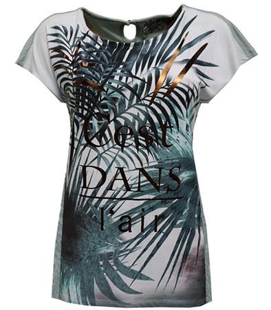 No Secret T-Shirt Damen Palmen große Größen