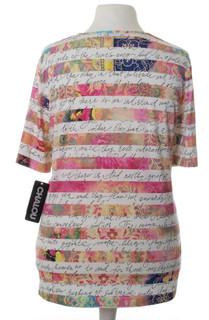5d161830c68342 Chalou ❤ kurzarm T-Shirt Damen Pastelltöne Postitive Aufdruck große ...