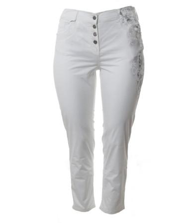 Weiße Sommer-Jeans Hose Damen in Kurzgröße große Größen von No Secret
