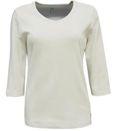 No Secret 3/4 Arm T-Shirt Damen V Ausschnitt große Größen Baumwolle 001