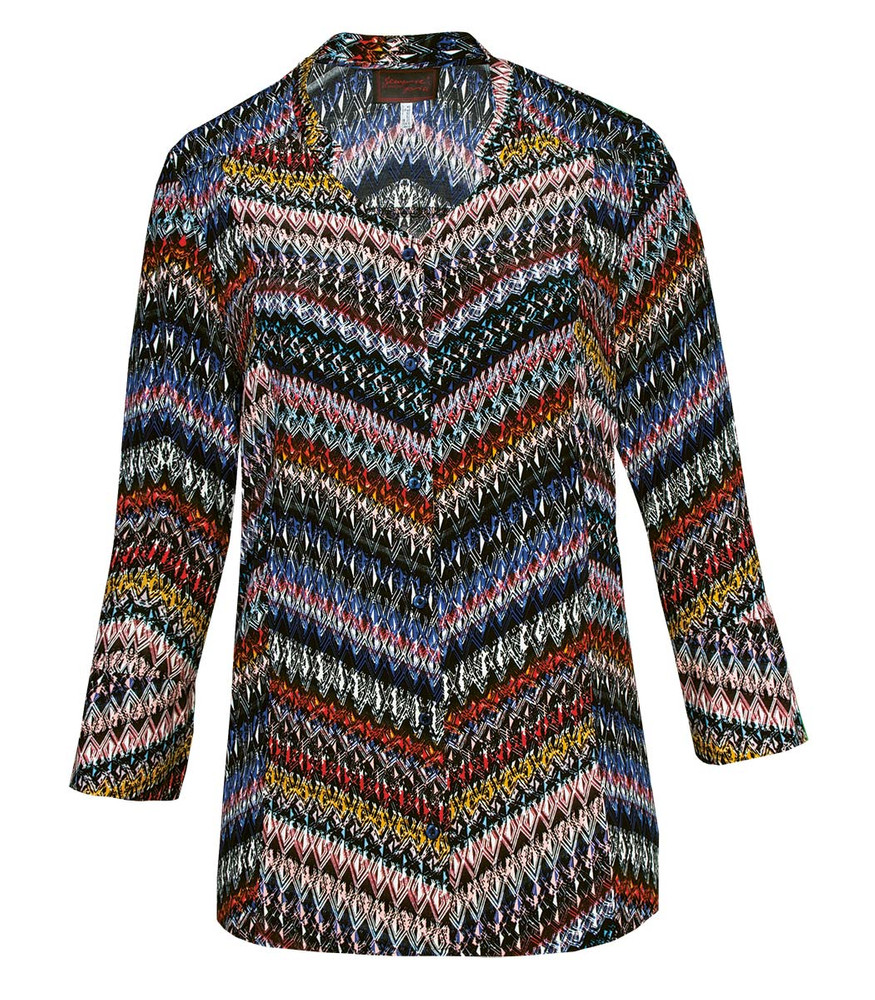 Tunika Shirt Fur Damen Mit Zick Zack Muster Fur Mollige Kaufen