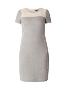 Yesta Kleid Herbst knielang Damen große Größen Grau Beige 001