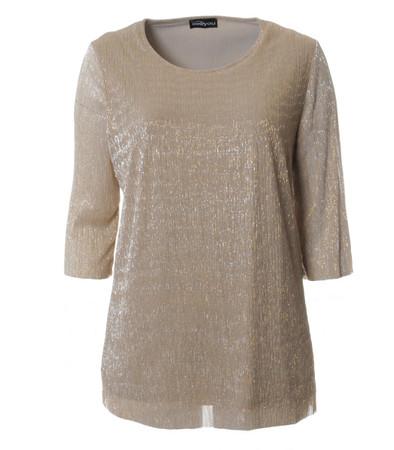 Seeyou Shirt Damen festlich elegant in Gold Glitzer