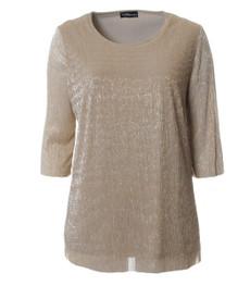 Seeyou Shirt Damen festlich elegant in Gold Glitzer 001