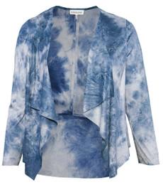 Chalou Shirtjacke Damen Jacke aus künstlichem Veloursleder Blau 001
