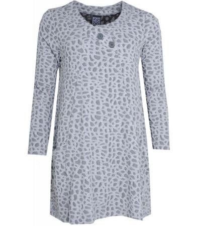 Tunika-Kleid Grau langarm A-Form von Pont Neuf