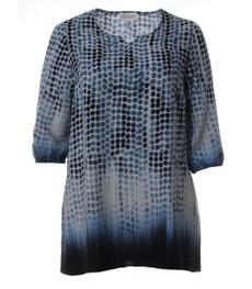 Tunika Shirt Damen in A-Form Blau kaufen - Chalou 001