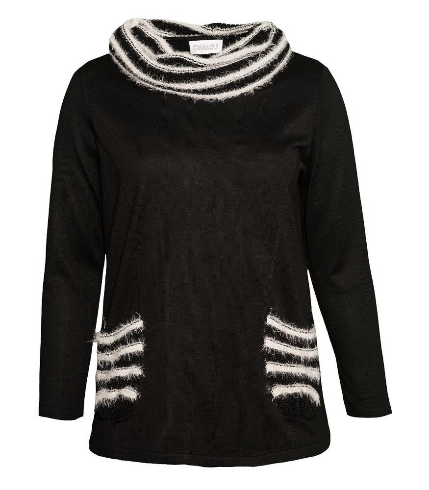 official photos cbae0 6c781 Chalou Damen Pullover Schwarz große Größen | Mode für Mollige ❤ Damenmode  Online Shop für große Größen