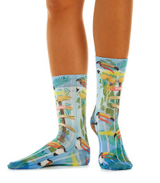 "Wigglesteps Damen Socken ""RIO"" Blau Light Blue 001"