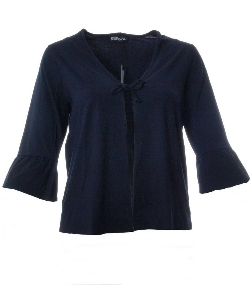 best service daf3c e08d5 Blaue Sommerjacke für Damen in große Größen | Mode für Mollige ❤ Damenmode  Online Shop für große Größen