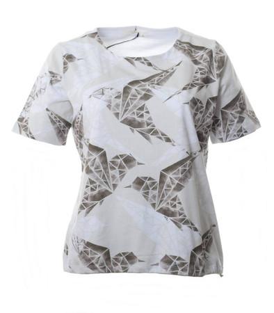 T-Shirt mit Vögel Damen große Größen aus Baumwolle