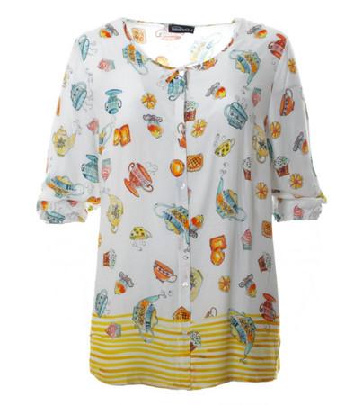 schöne gelbe Bluse Damen in großen Größen kaufen