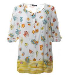 schöne gelbe Bluse Damen in großen Größen kaufen 001