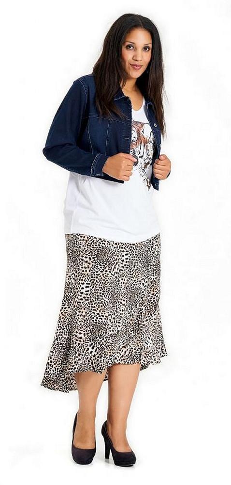 buy online 4da18 2a55f Langer Damen Rock Damen wadenlang Leopardenmuster Braun große Größen
