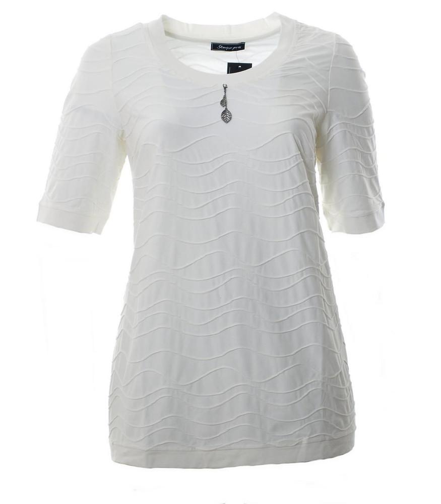 damen t shirt creme ecru a linie gro e gr en mode f r. Black Bedroom Furniture Sets. Home Design Ideas
