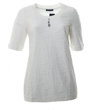 Damen T-Shirt Creme Ecru A-Linie große Größen