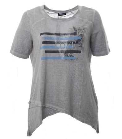 No Secret Damen T-Shirt Grau meliert große Größen