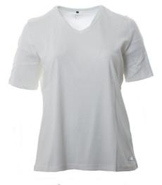 No Secret T-Shirt Damen V Ausschnitt Creme große Größen 100% Baumwolle 001