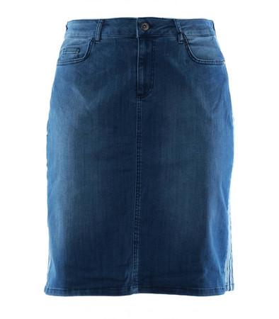 Kurzer Jeans Damen Rock Minirock Jeansrock große Größen