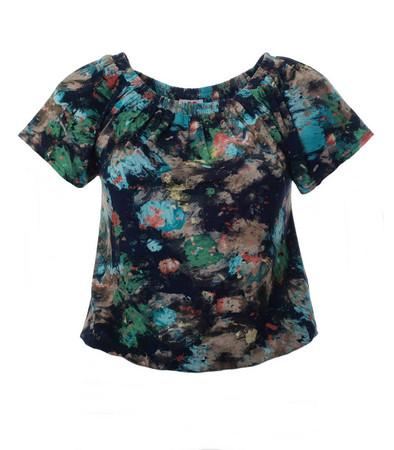 Carmen Damen T-Shirt kurz große Größen Schwarz Grün Blau