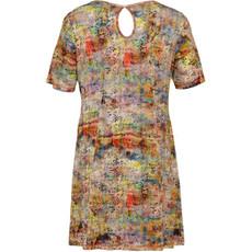 new product 0de6b d7562 Details zu Aprico Damen Kleid Gelb Bunt knielang kurzarm große Größen  A-Linie