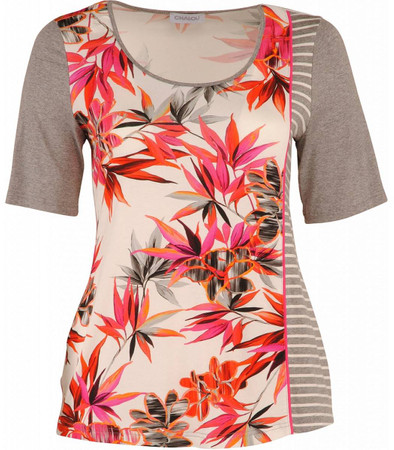 Chalou Damen T-Shirt A-Linie Gau Pink große Größen