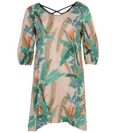 Aprico Damen Kleid Grün knielang kurzarm große Größen