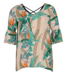 Aprico Damen T-Shirt Grün kurzarm große Größen 001