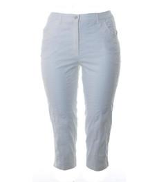 KjBrand Damen Sommer Hose Bea 7/8 Länge in Weiß große Größen 001