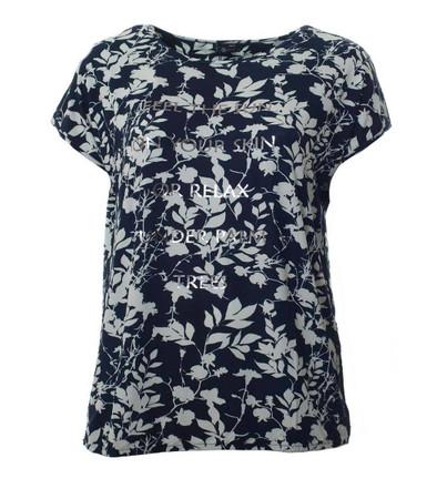 No Secret Damen Shirt Damen Blumen Schwarz Weiß große Größen