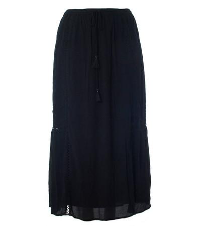 Maxirock Damen Schwarz große Größen