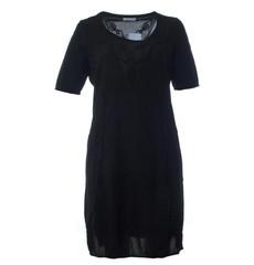 Mona Lisa Damen Sommer Kleid aus Baumwolle knielang Schwarz 001