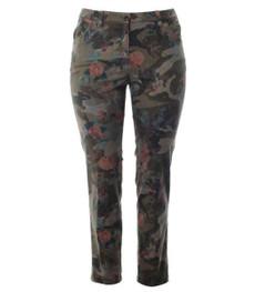 KjBrand Damen Jeans Hose Betty Röhre Ankle Camouflage Muster 001
