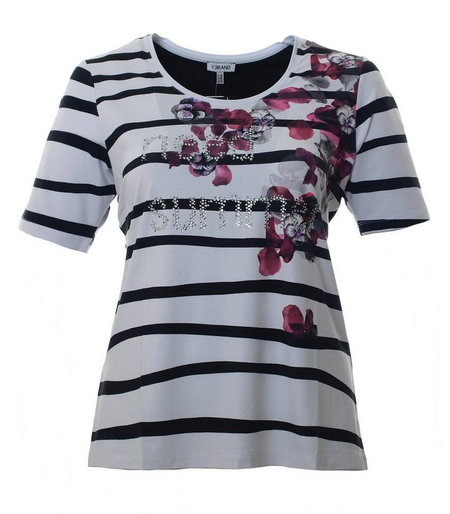 fef98d6c28b5f5 T-Shirt Damen mit Strass Weiß Schwarz Pink große Größen | Mode für ...