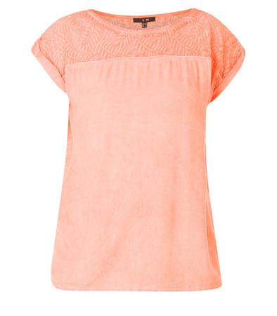 Damen Top T-Shirt Orange Flamingo große Größen aus Baumwolle